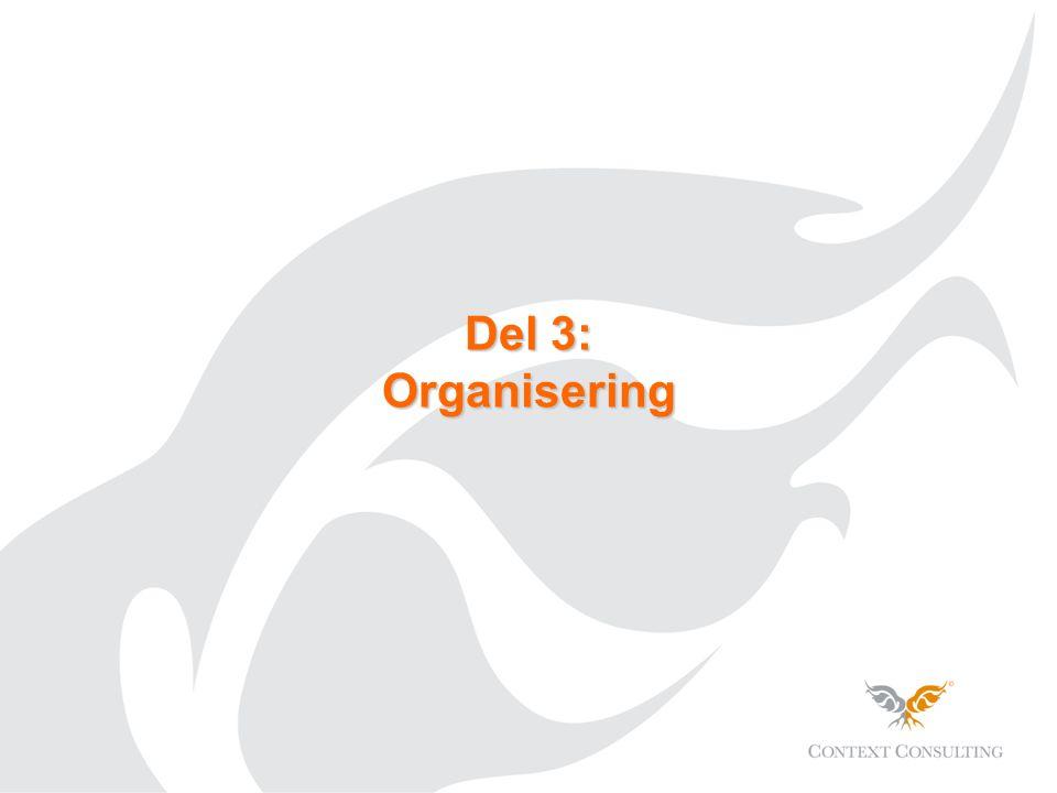 Del 3: Organisering