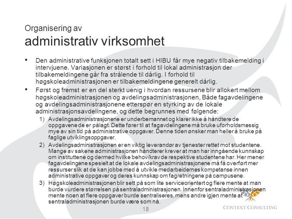 Organisering av administrativ virksomhet
