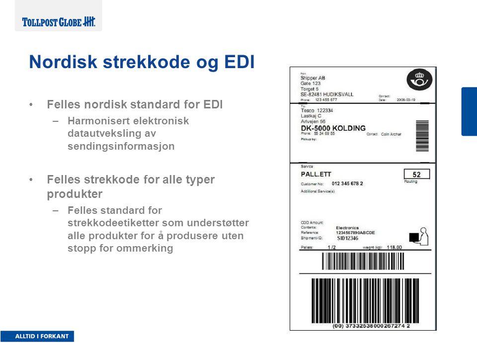 Nordisk strekkode og EDI