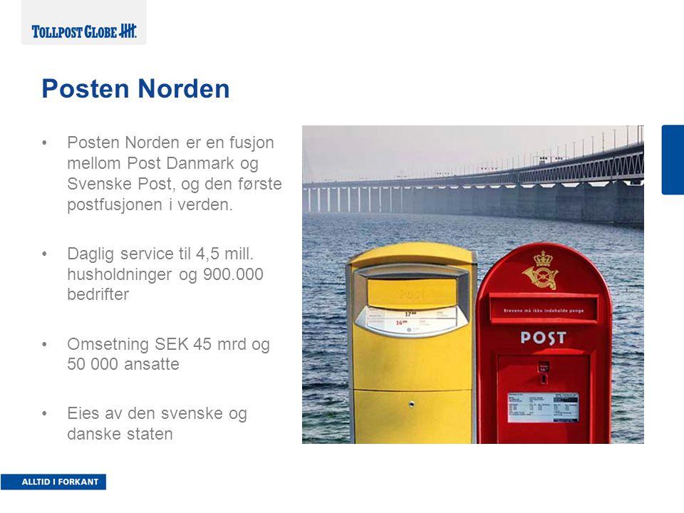 Posten Norden Posten Norden er en fusjon mellom Post Danmark og Svenske Post, og den første postfusjonen i verden.