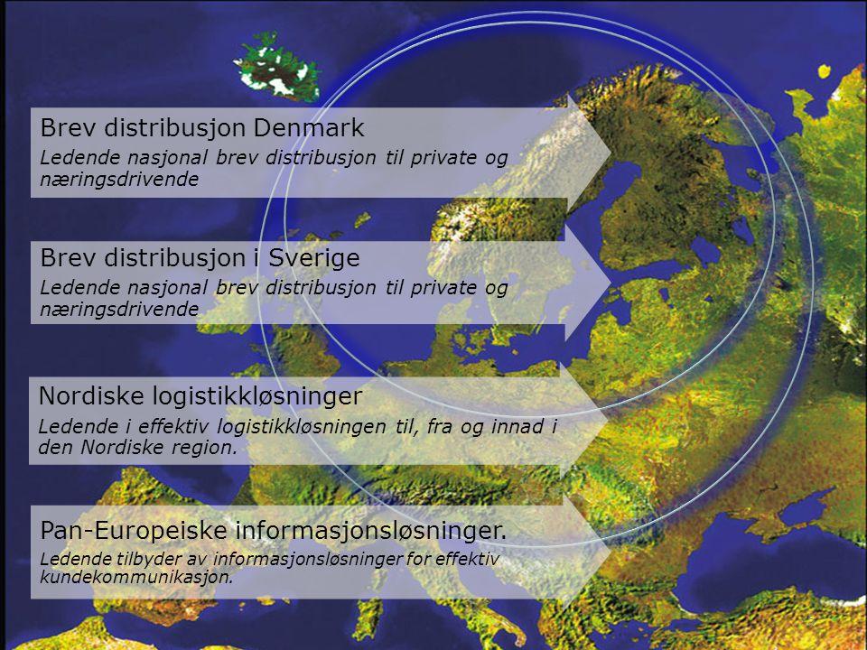 Brev distribusjon Denmark