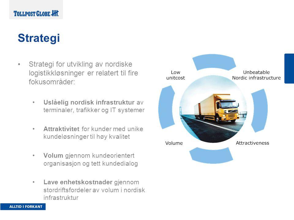 2017-04-04 Strategi. Strategi for utvikling av nordiske logistikkløsninger er relatert til fire fokusområder:
