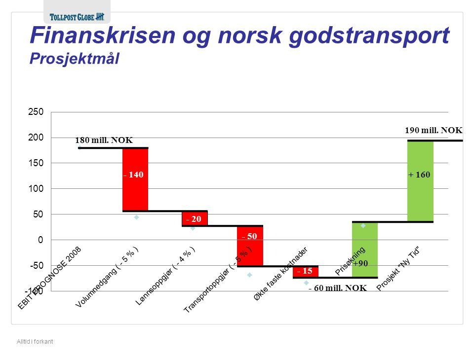 Finanskrisen og norsk godstransport