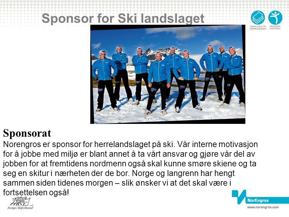 Sponsor for Ski landslaget