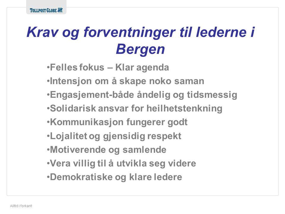 Krav og forventninger til lederne i Bergen