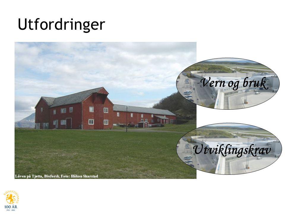 Låven på Tjøtta, Nordland, Bioforsk. Foto Håkon Skarstad