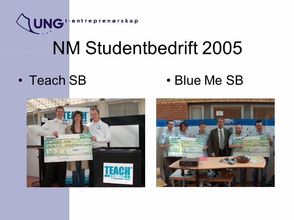 NM Studentbedrift 2005 Teach SB Blue Me SB