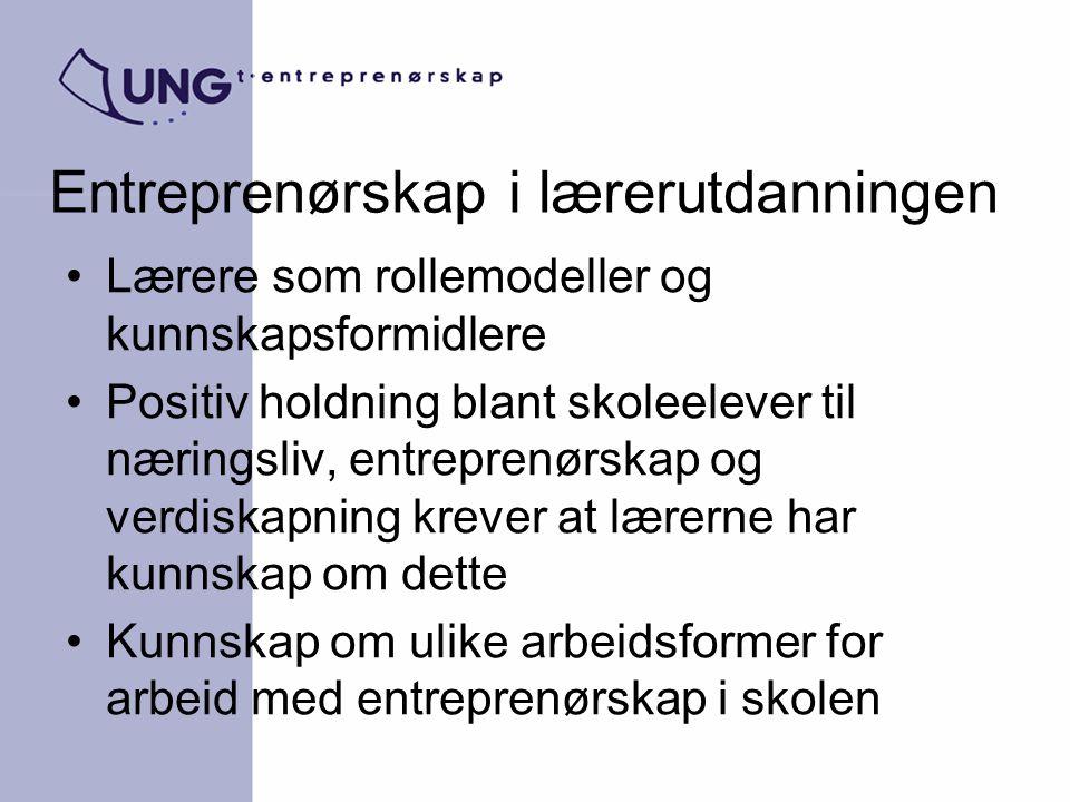 Entreprenørskap i lærerutdanningen