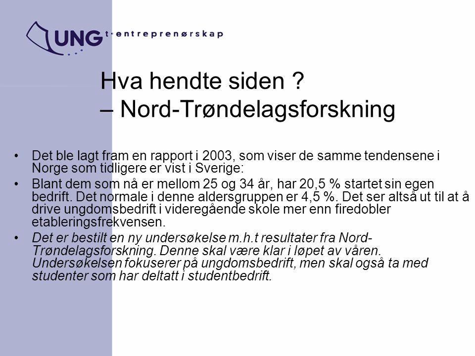 Hva hendte siden – Nord-Trøndelagsforskning
