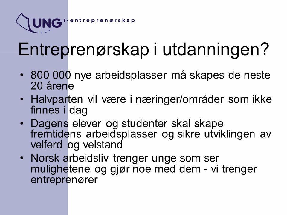 Entreprenørskap i utdanningen