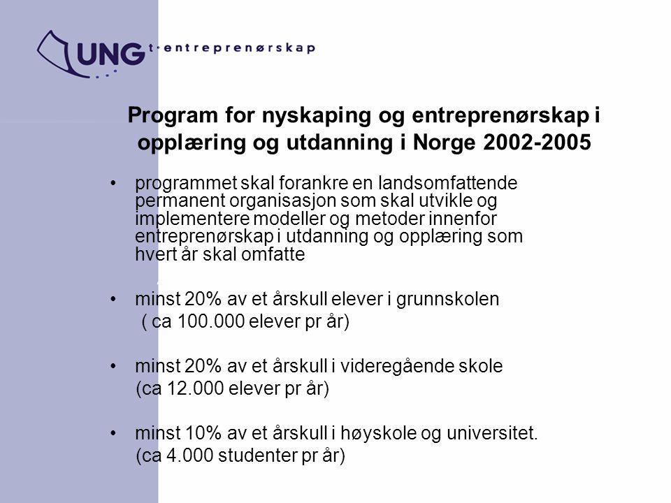 Program for nyskaping og entreprenørskap i opplæring og utdanning i Norge 2002-2005