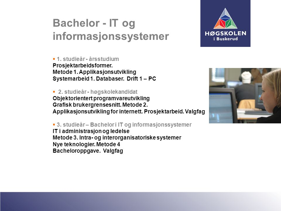 Bachelor - IT og informasjonssystemer