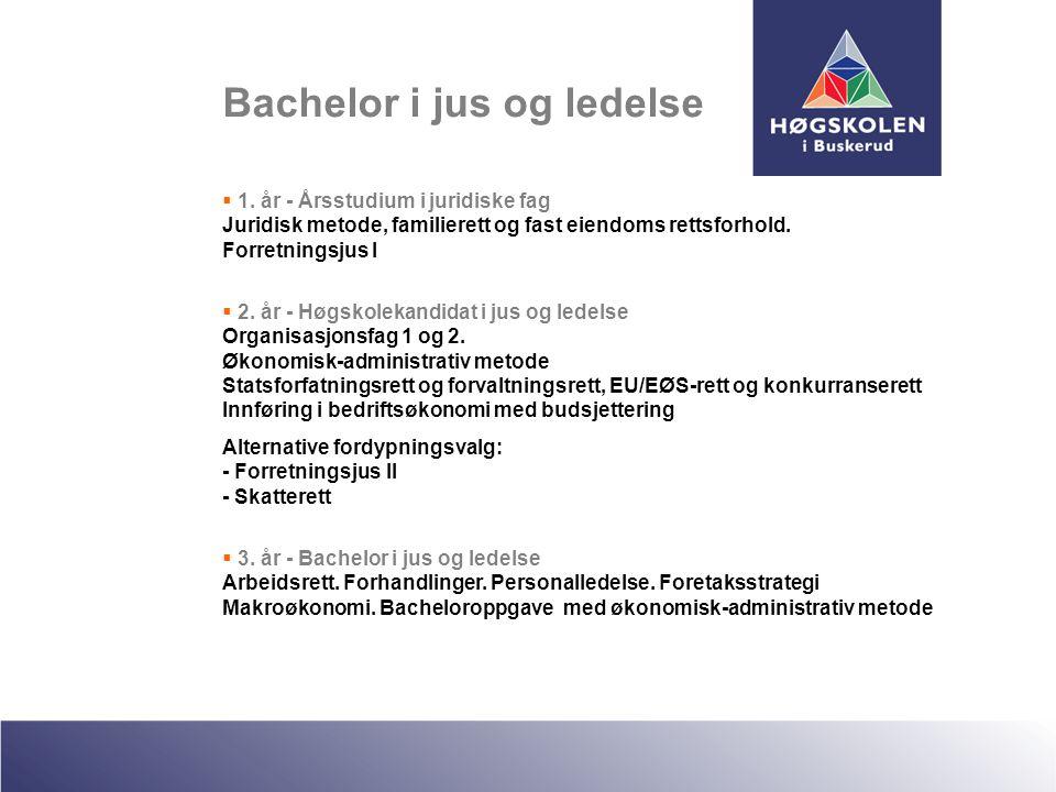 Bachelor i jus og ledelse