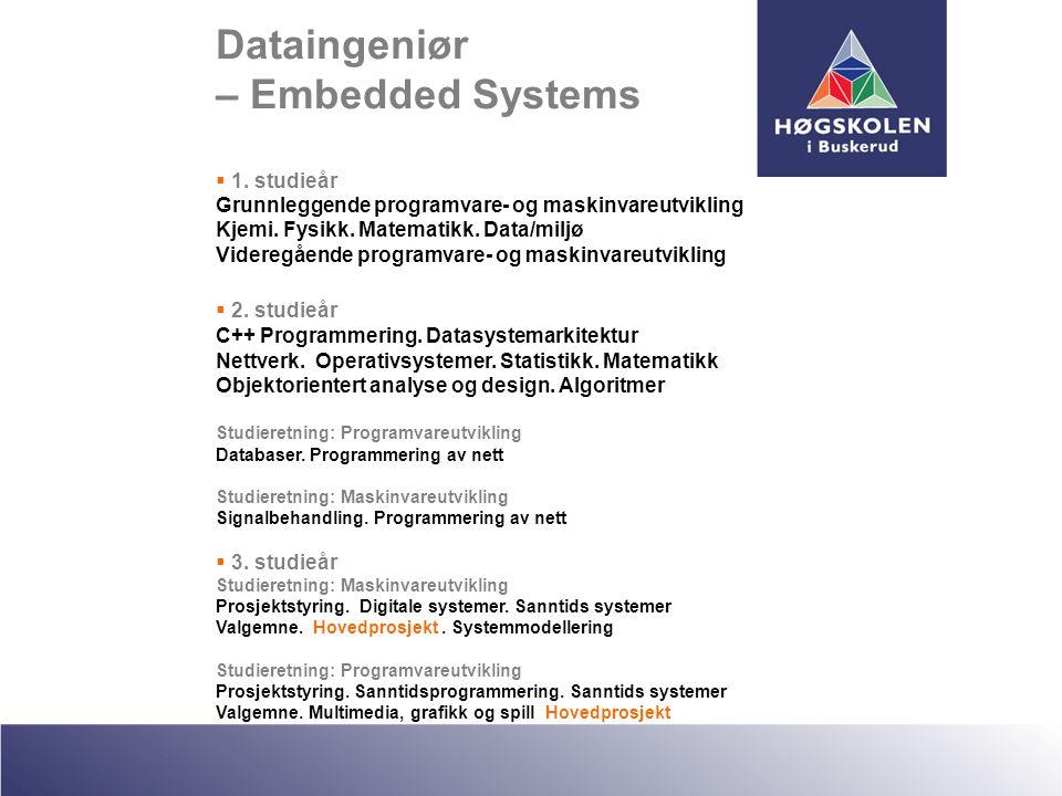Dataingeniør – Embedded Systems