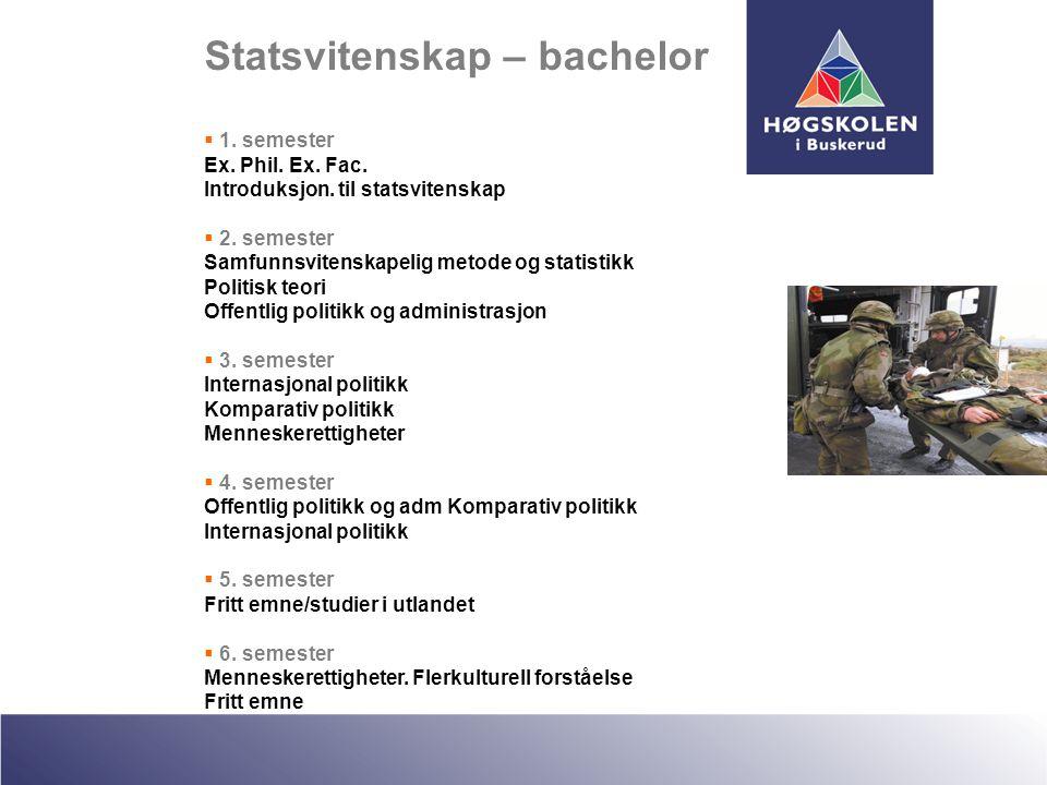 Statsvitenskap – bachelor