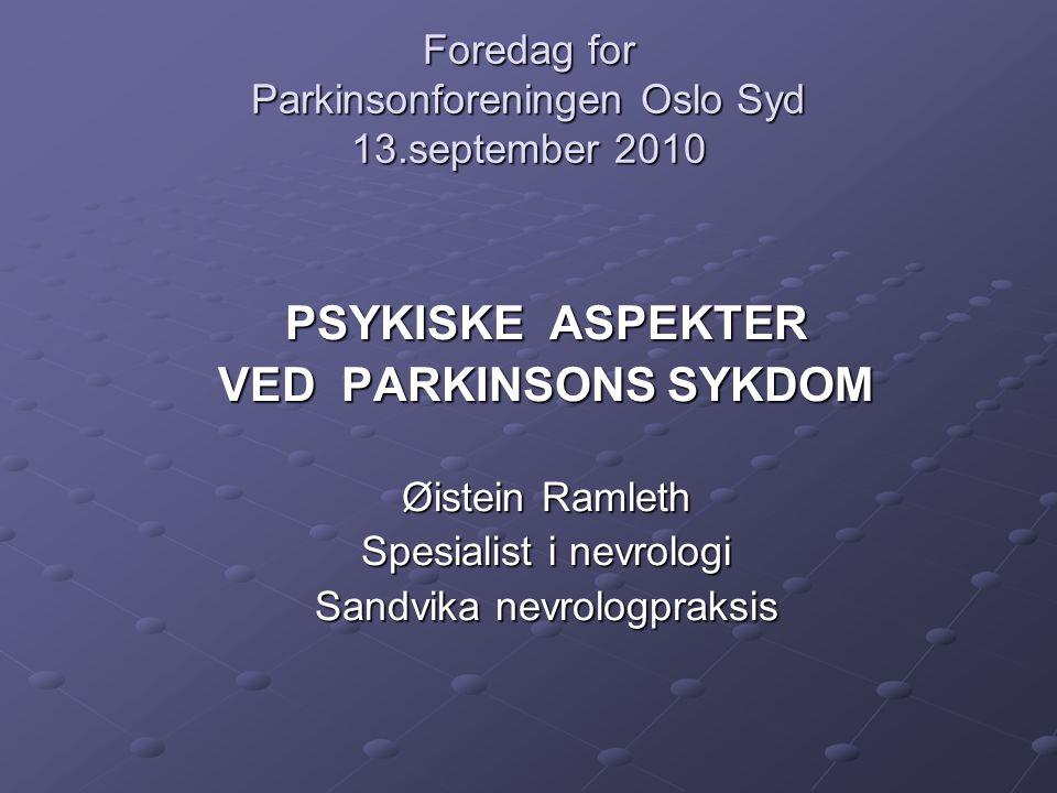 Foredag for Parkinsonforeningen Oslo Syd 13.september 2010