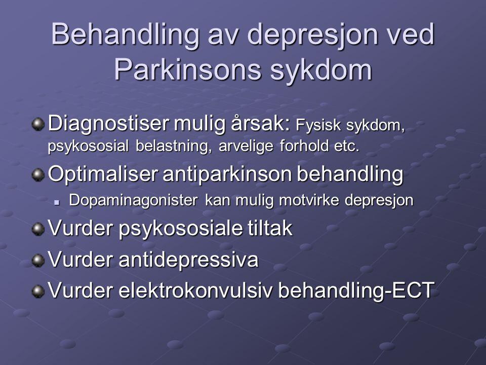 Behandling av depresjon ved Parkinsons sykdom