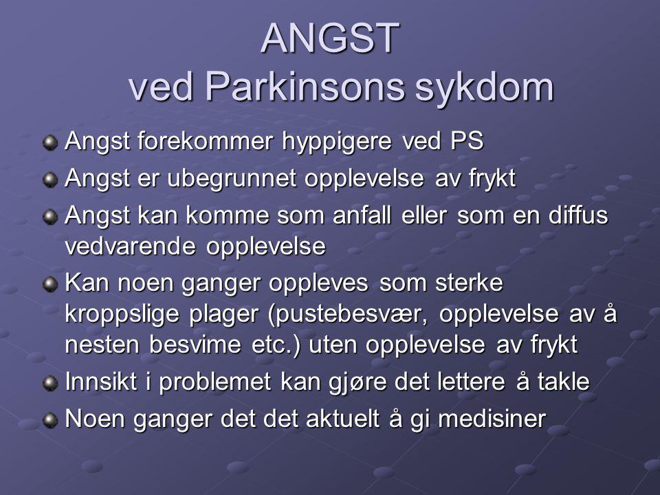 ANGST ved Parkinsons sykdom