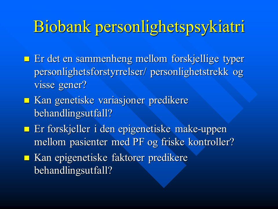 Biobank personlighetspsykiatri
