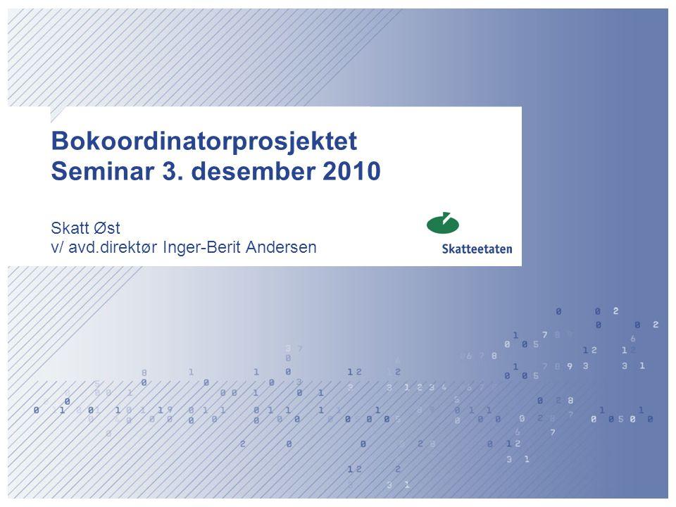 Bokoordinatorprosjektet Seminar 3. desember 2010