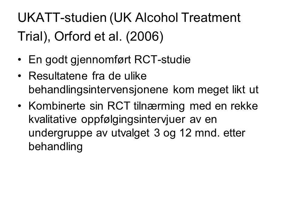 UKATT-studien (UK Alcohol Treatment Trial), Orford et al. (2006)