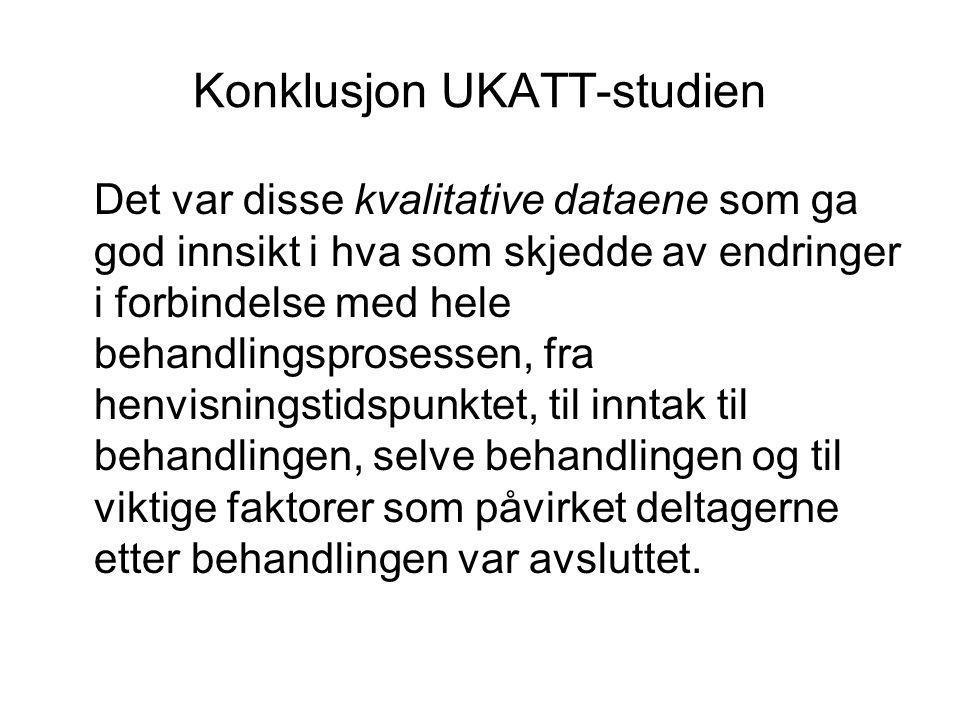 Konklusjon UKATT-studien
