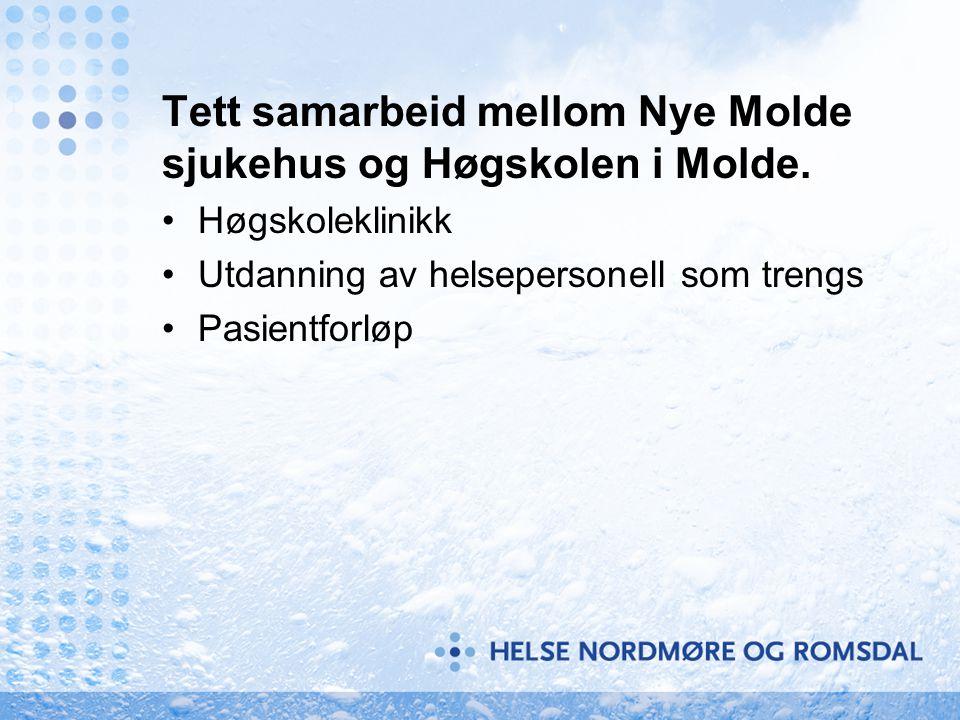 Tett samarbeid mellom Nye Molde sjukehus og Høgskolen i Molde.