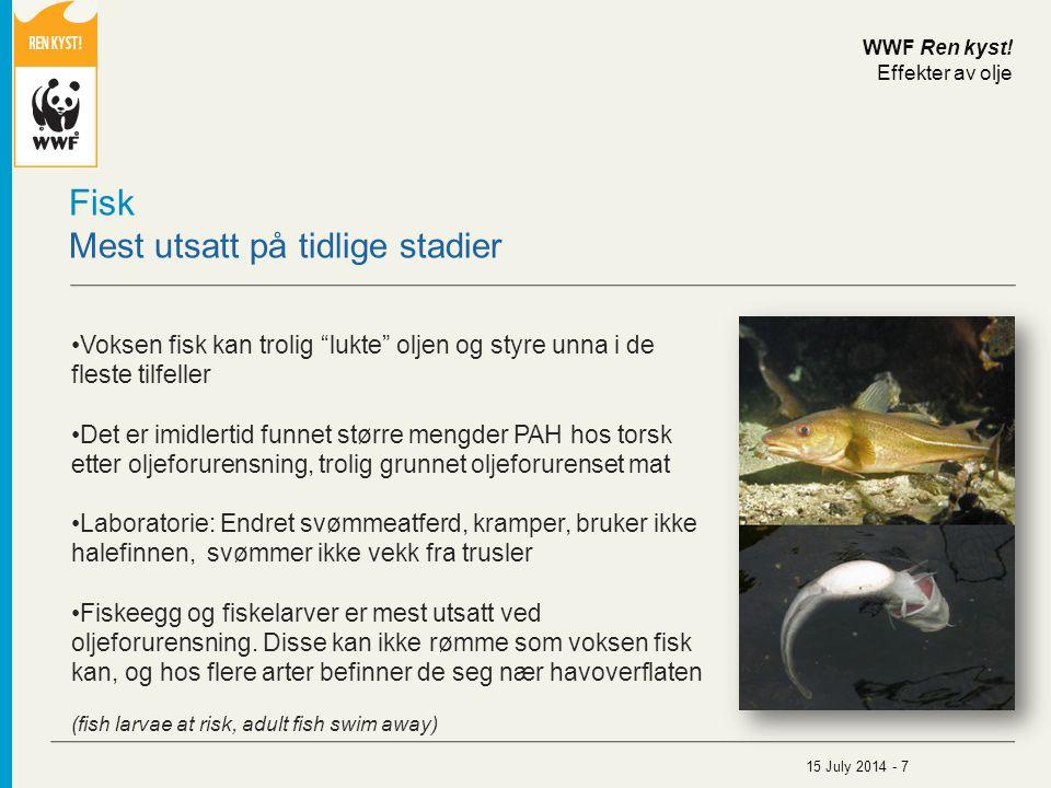 Fisk Mest utsatt på tidlige stadier