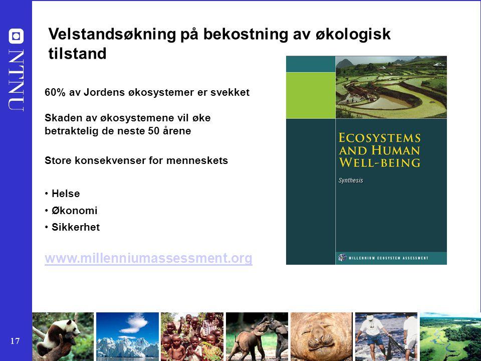 Velstandsøkning på bekostning av økologisk tilstand