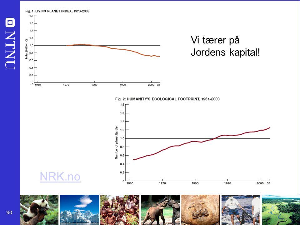 NRK.no Vi tærer på Jordens kapital!