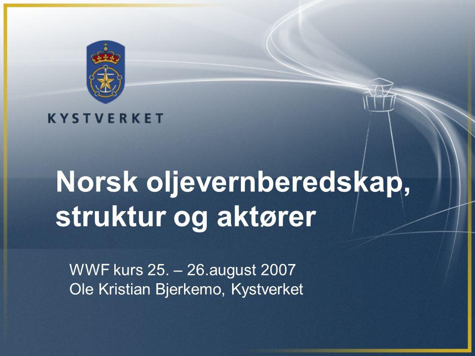 Norsk oljevernberedskap, struktur og aktører
