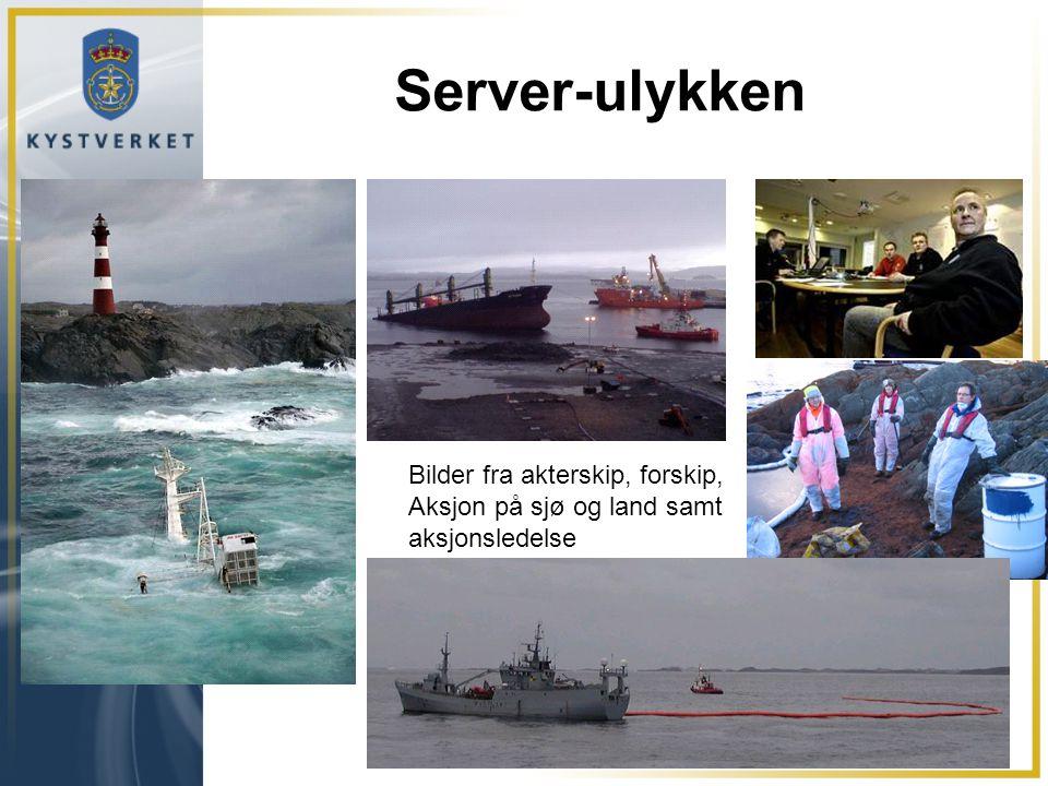Server-ulykken Bilder fra akterskip, forskip,