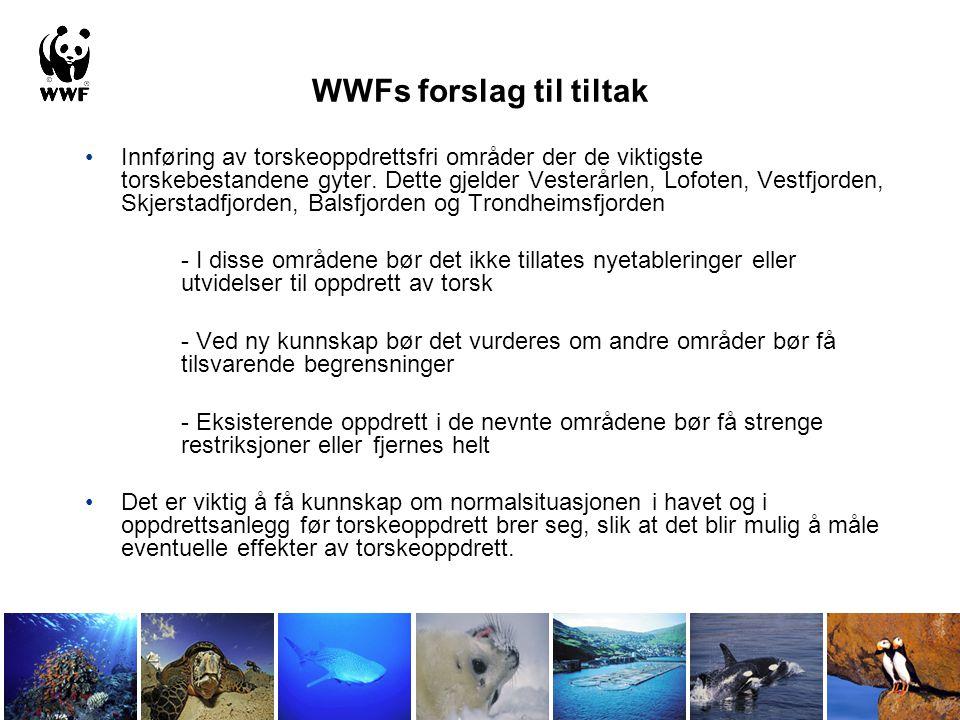 WWFs forslag til tiltak