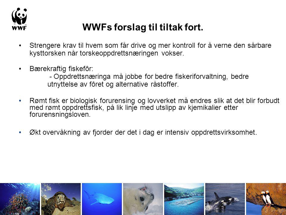 WWFs forslag til tiltak fort.