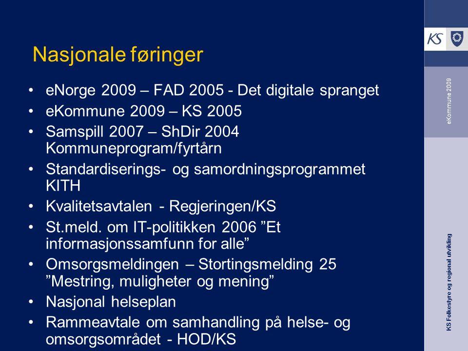 Nasjonale føringer eNorge 2009 – FAD 2005 - Det digitale spranget