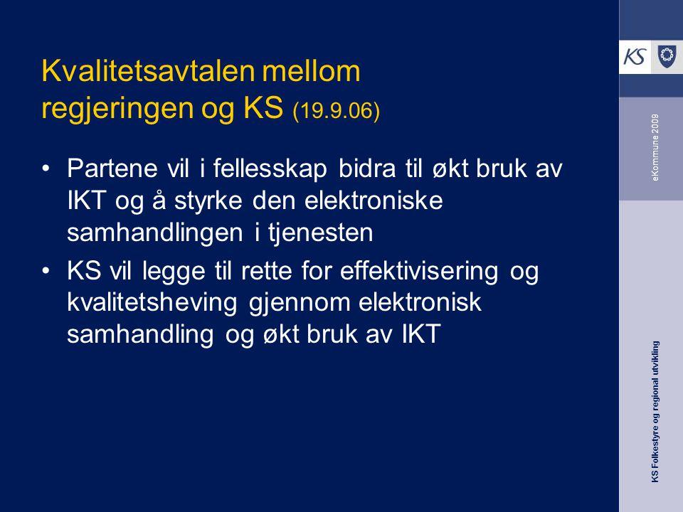 Kvalitetsavtalen mellom regjeringen og KS (19.9.06)