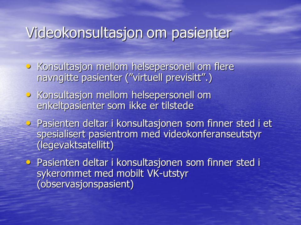 Videokonsultasjon om pasienter