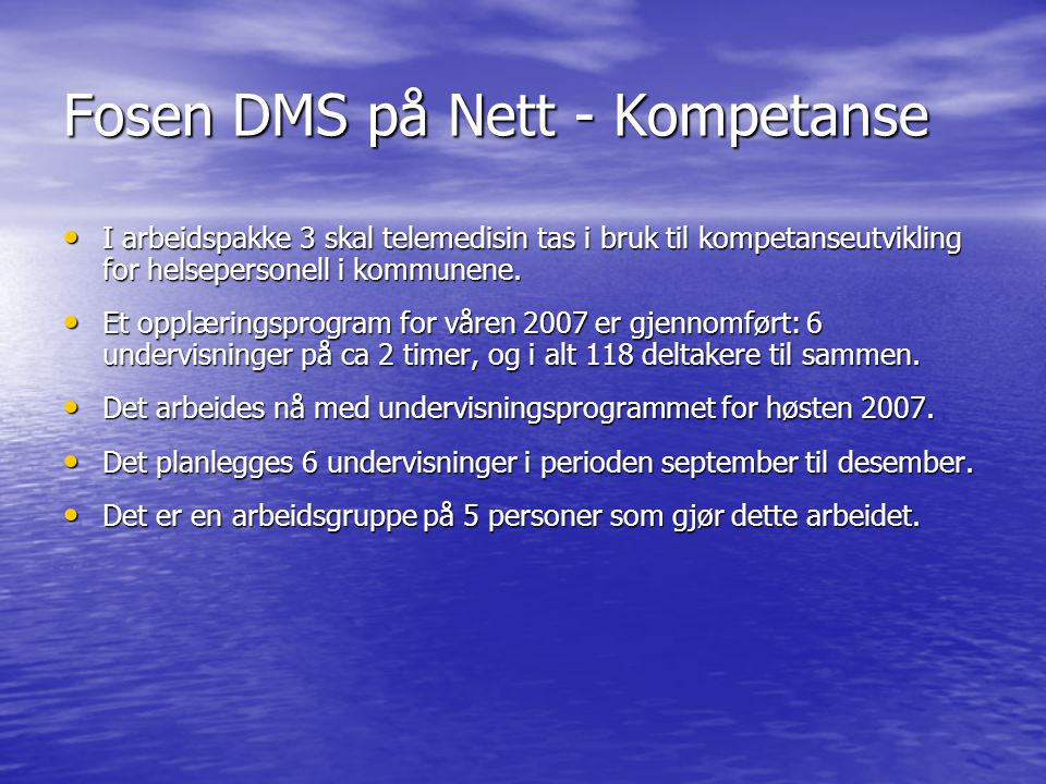 Fosen DMS på Nett - Kompetanse