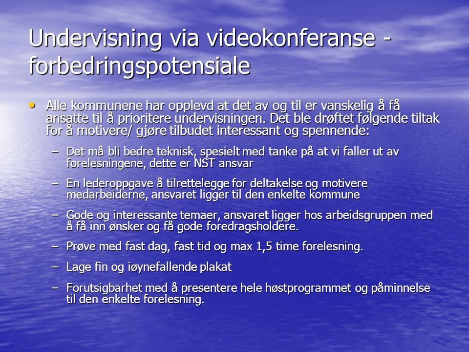 Undervisning via videokonferanse - forbedringspotensiale