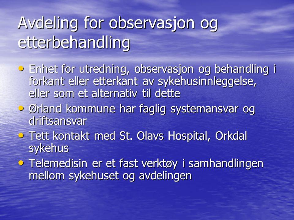Avdeling for observasjon og etterbehandling