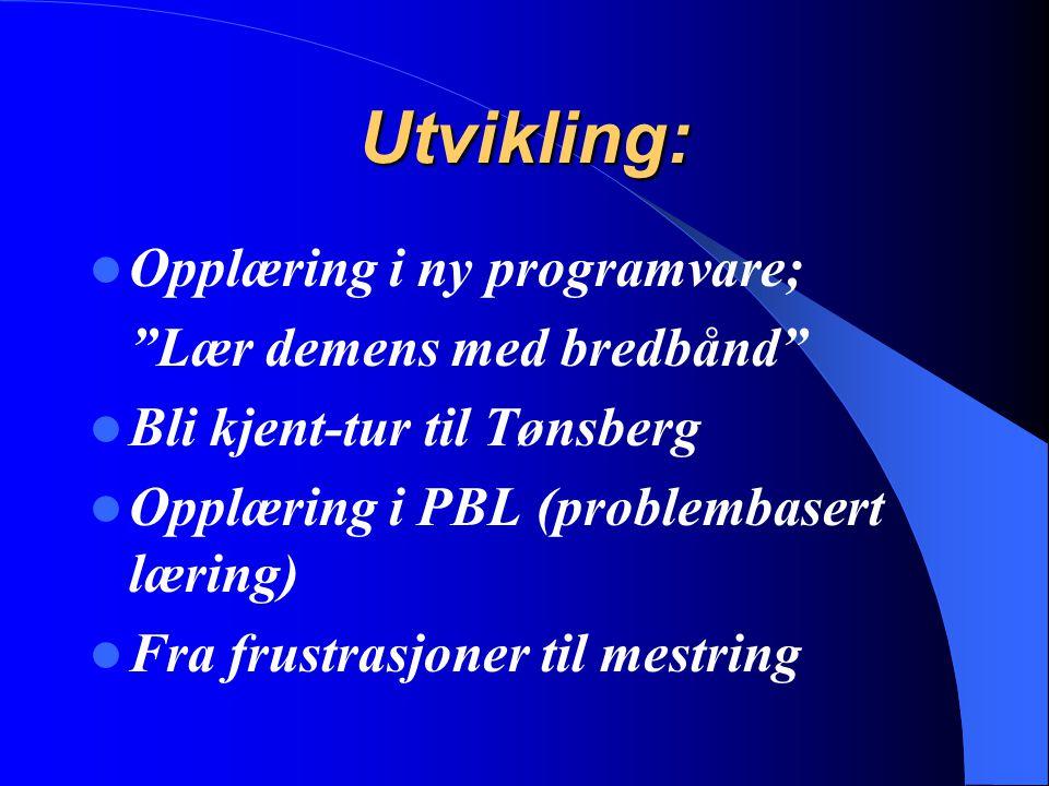 Utvikling: Opplæring i ny programvare; Lær demens med bredbånd