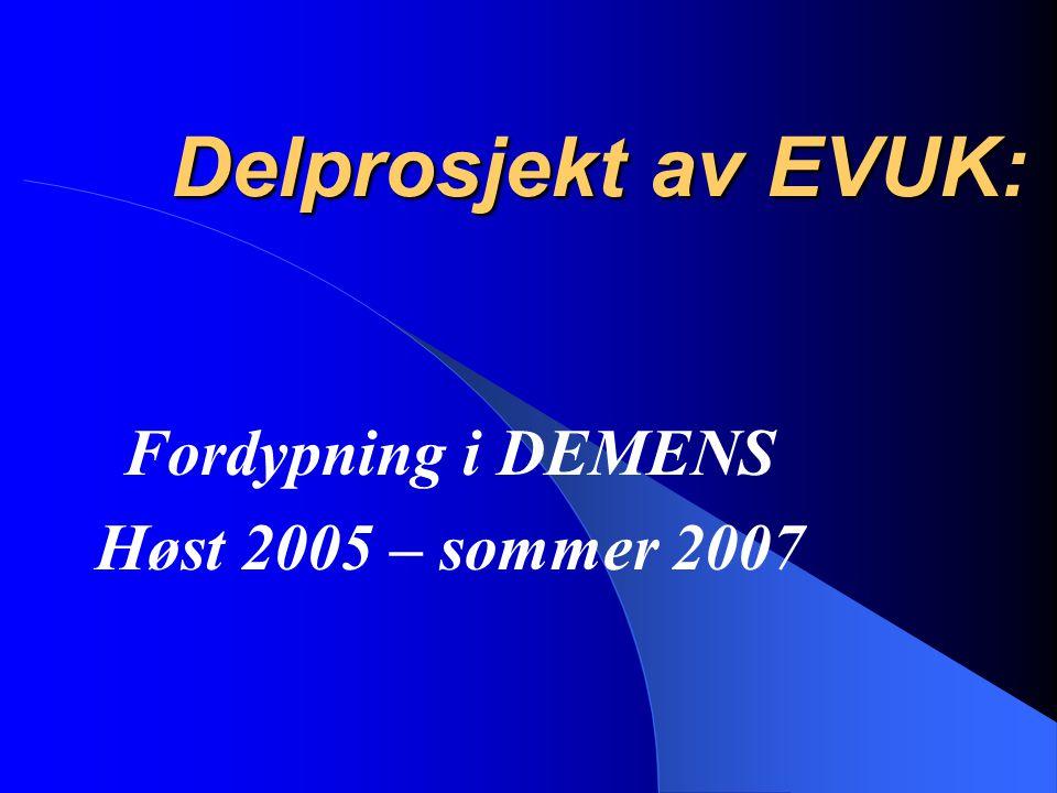 Fordypning i DEMENS Høst 2005 – sommer 2007