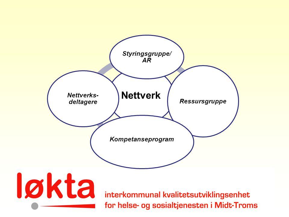 Nettverk Styringsgruppe/ AR Ressursgruppe Kompetanseprogram