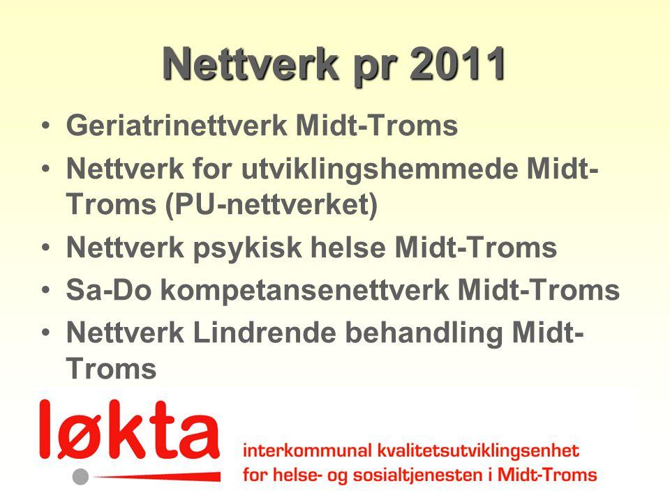Nettverk pr 2011 Geriatrinettverk Midt-Troms