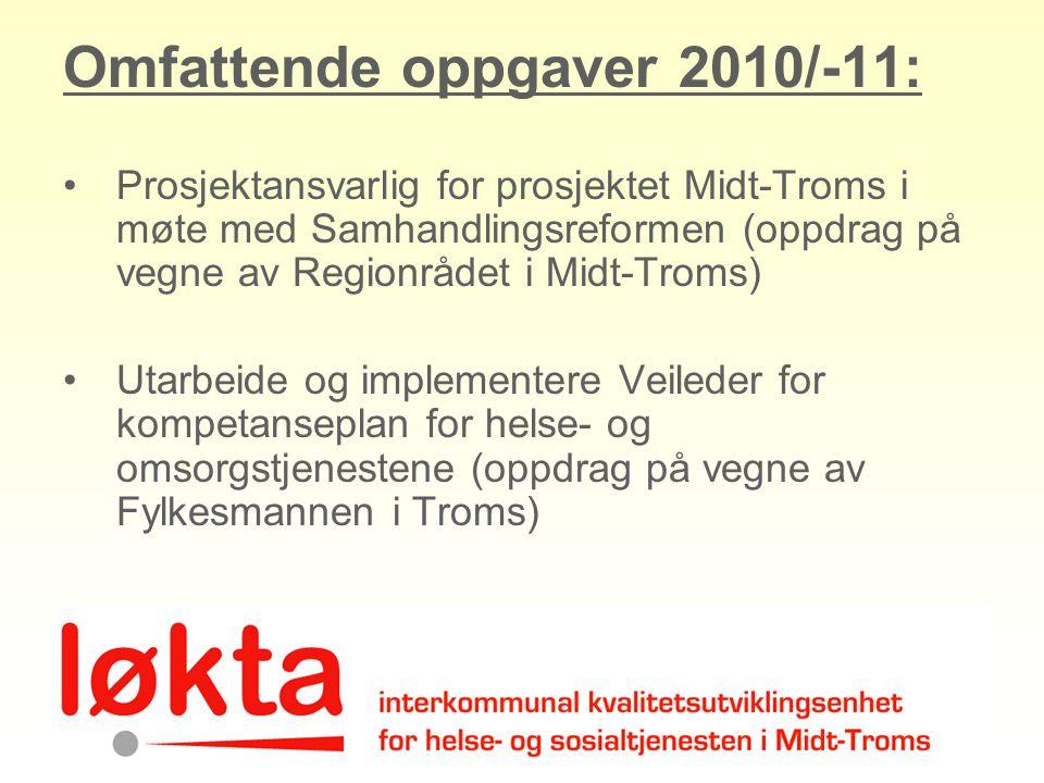 Omfattende oppgaver 2010/-11: