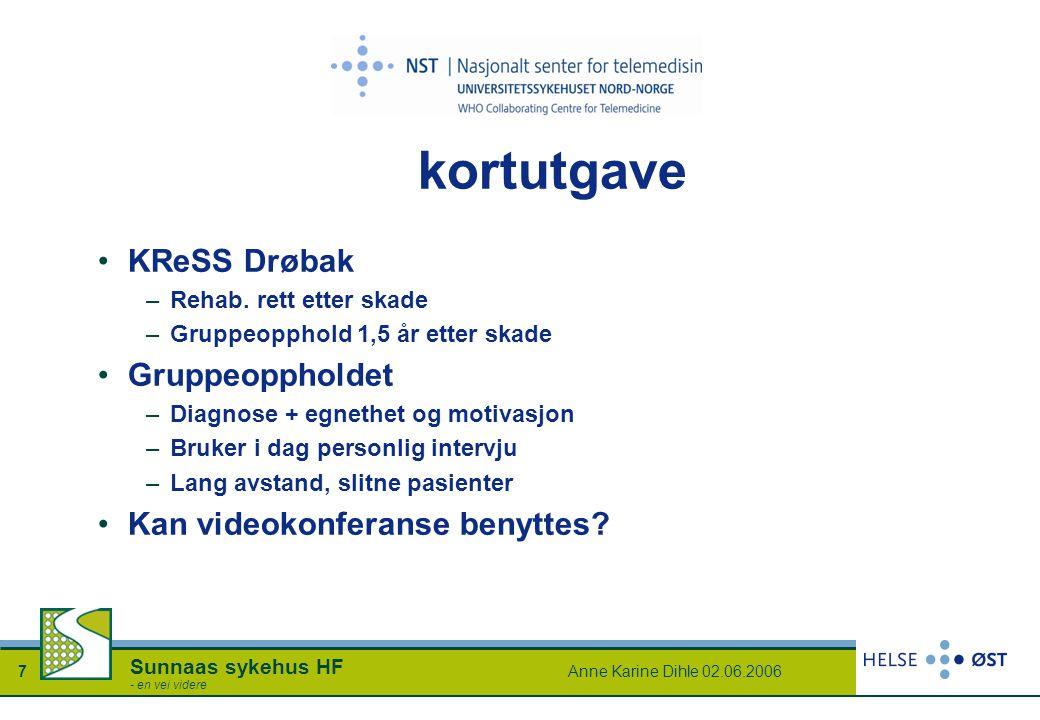 kortutgave KReSS Drøbak Gruppeoppholdet Kan videokonferanse benyttes