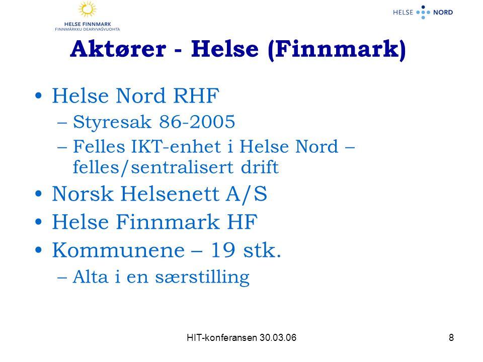 Aktører - Helse (Finnmark)
