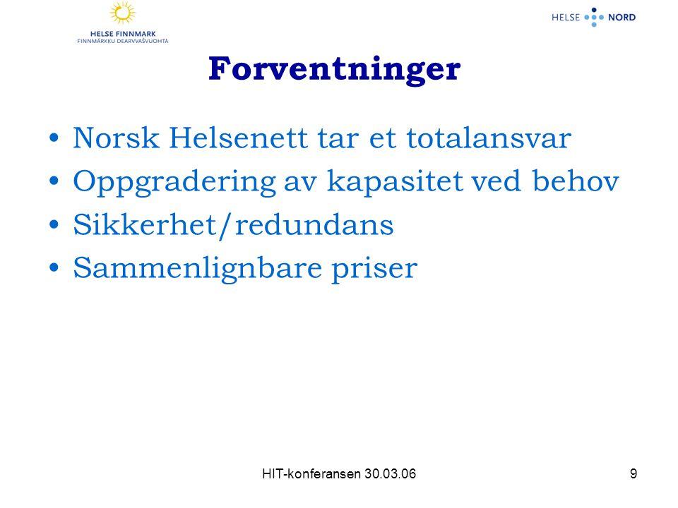 Forventninger Norsk Helsenett tar et totalansvar