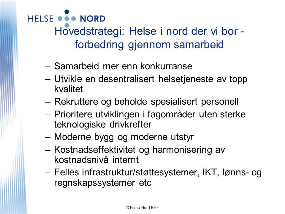 Hovedstrategi: Helse i nord der vi bor - forbedring gjennom samarbeid