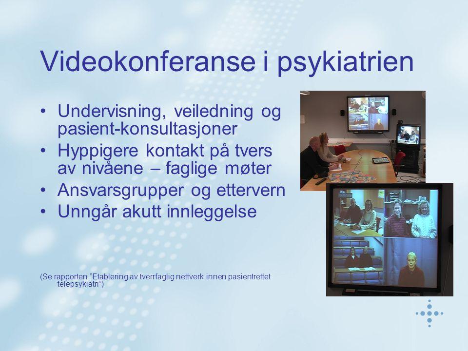 Videokonferanse i psykiatrien